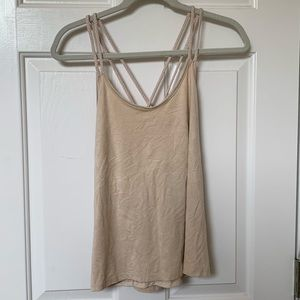 NWOT Braided strap faux suede tank